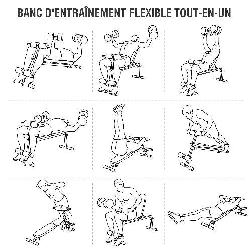 exercices sur banc